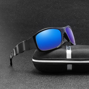 Big Size Polarized Driving Sunglasses Men Sport Retro Polaroid Sun glasses for men Wave Square Frame Vintage UV400