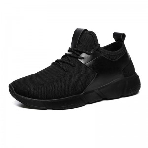 Black Casual Shoes For Men Light Breathable Cheap Lace Up Man Winter Warm Shoes With Fur Snow Boots Keep Warm Boots