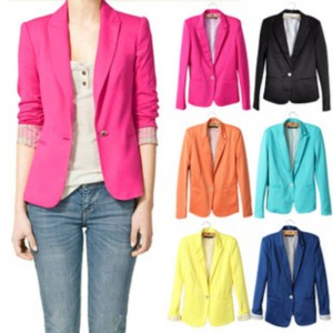 Blazer Suit Foldable Cotton Spandex Vogue Blazer For Women New Thumbnail