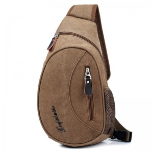 Casual Chest Bag Men Canvas Small Crossbody Bag Luxury Quality Travel Pack Single Shoulder Bags Military Messenger Bag