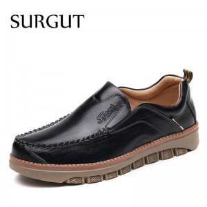Casual Shoes Men Cow Leather Vintage Designer Shoes Men Dress Moccasins Loafer Slip On Flats Men Shoes