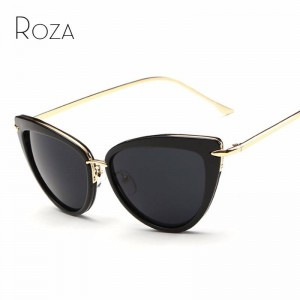 Cat Eye Retro Sunglasses Alloy Temple Designer UV400 Polarized Anti Reflection Designer Shades For Women