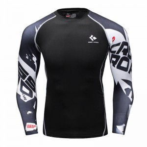 Compression Shirts Bodybuilding Skin Tight Long Sleeve Crossfit For Men Thumbnail