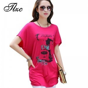 Cool Summer Short Sleeve Loose T Shirts Large Plus Size Flexible Print Women Fashion Design Tops Tees Women Thumbnail