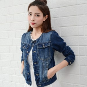 Denim Jacket Women Autumn Spring Fall Women Basic Jacket Fashion Long Sleeve Jeans Coat casacos femininos