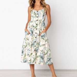 Elegant Length Party Dress 2019 Summer Sleeveless Long Beach Dress Sexy Floral Printed Off Shoulder Strapless Dress