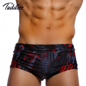 European Style Beach Trunks For Men Bikini Swimsuits Swimming Briefs Taddlee Boxer Surfing Shorts
