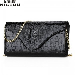 Fashion 3D Crocodile Women Clutch Luxury Alligator Bags Evening Purse Chain Crossbody Bags For Women Thumbnail