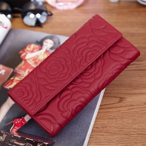 Fashion Flowers Women Wallets Floral Purse Handbags Genuine Leather Wallets Clutches Women Thumbnail