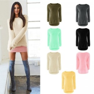 Fashion Sexy Ladies Sweater Coat Long Sleeve Soft Smooth Warm Winter Flat Knitted Casual Cardigan