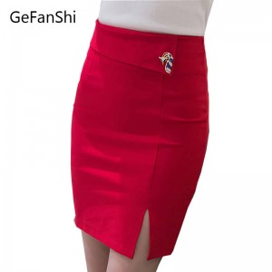 Fashion Sexy Slim Spring New Women Pencil High Waist Stretch Skirts Zipper For Women Thumbnail
