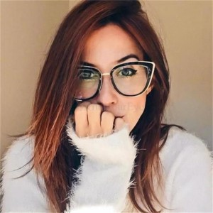 Fashion Spectacles Transparent Frame Glasses Brand Designer Cat Eye Glasses Clear Lens Classic Eyeglasses Frames
