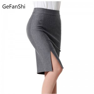 Fashion Spring Autumn New Women Skirt High Waist Slim Pencil Skirt Open Front Women Thumbnail