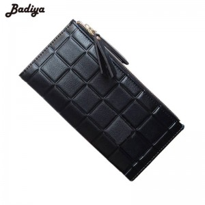 Fashion Stereoscopic Square Women Wallet Embossed Wallet Candy Color Female Clutch With Zipper Thumbnail