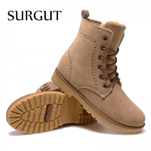 Fashion Winter Shoes For Men Suede Pu Leather Snow Men Boots High Quality Comfy Casual Shoes Men Plus Size