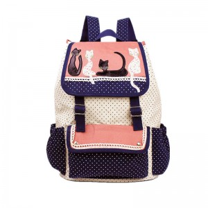 Fashion Women Backpack Multi Color High Quality Cat Backpacks For School Girls Shoulder Bags Thumbnail