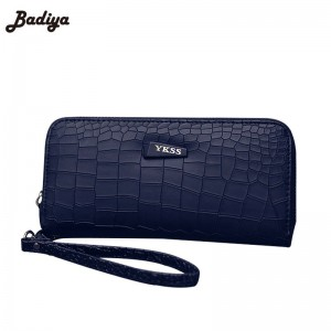 Fashion Women Clutch Wallet Pu Leather Long Stone Grain Wallet Purse Mobile Bag Card Holder Thumbnail