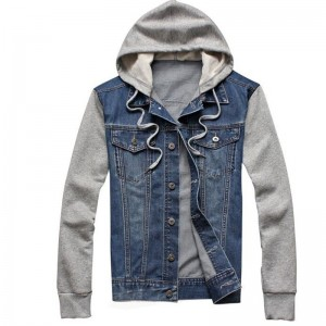 Fleece Hoodies For Men New Cowboy Design Tracksuit Denim Jacket Hoodie Jeans Sweatshirt For Men
