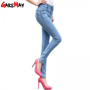 Garemay High Waist Jeans For Women Denim Pencil Jeans Trousers Skinny Pants Women Thumbnail