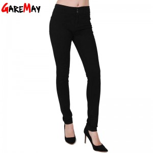 Garemay Women Casual Pants New Breasted Jeans High Waist Pencil Pants For Women New Thumbnail