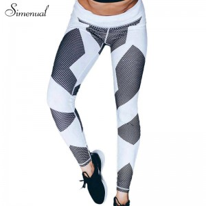 Geometric Print Athlete Leggings Jeggings For WOmen Elastic Push Up Long Leggings Pants For Women Thumbnail