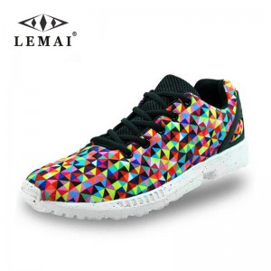 Gingham Casual Fashion Shoes Printed Zapatos Hombre New Design Shoes Men Thumbnail