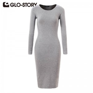 Glo-Story Chic Fashion Long Sleeve Sexy Body Con Dress New For Women Thumbnail