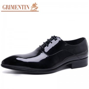 Grimentin Fashion Italian Luxury Patent Leather Shoes Genuine Formal For Men Thumbnail