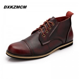 Handmade Genuine Leather High Quality Autumn Winter Boots Martin Style Men Thumbnail