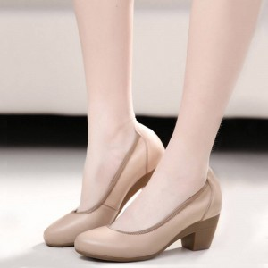 Hee Grand Super Soft Flexible Classic Pumps Mid Heel Office Shoes Women Thumbnail