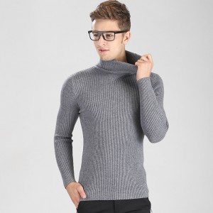High Grade New Autumn Winter Youth Fashion Turtleneck Sweater Men Knitted Sweater High Elastic Sweaters And Pullovers