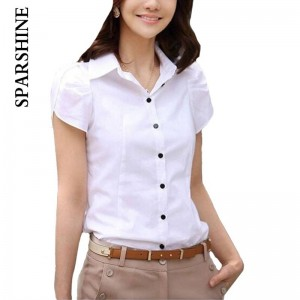 High Quality Fashion Short Sleeve Chiffon Shirt Casual Loose Office Wear For Women Thumbnail