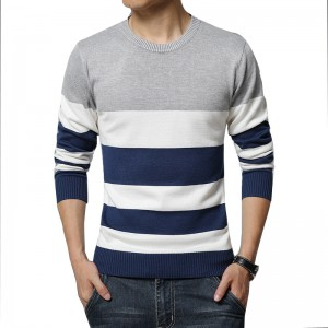 Horizontal Striped T Shirts For Men High Quality O Neck Casual Tees 2018 Long Sleeved Mens Sweatshirts Pullovers
