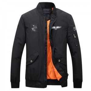hot autumn and winter fashion brand men jacket leisure jacket embroidery Solid color coat clothes