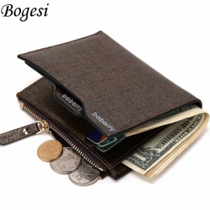 Hot Fashion Bifold Wallets Clutch With Zipper Cardholder Coinholder Men Thumbnail