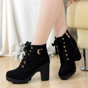 Hot New Pu High Heel Fashion Sexy Ladies Shoes All Season New For Women Thumbnail