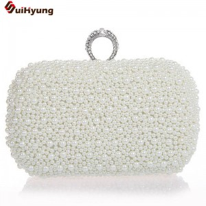 Hot Style Women Beaded Handbags Clutches Bridal Duplex Full Pearl Diamond Marriage Clutch For Women Thumbnail