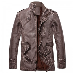Hot warm autumn and winter warm mens leather jackets motorcycle jacket mens coat free shipping