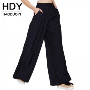 HYD Women Casual Pants Wide Leg Loose Fit New Design Trousers Pants For Women Thumbnail