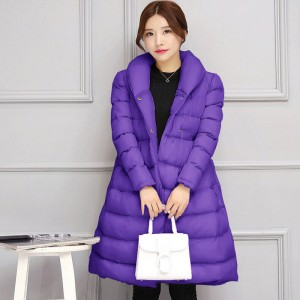JOLINTSAI Winter New Waisted Coat Women Parkas Long Jackets Padded Coats Thick Womens Winter Jacket Jaquetas Feminino
