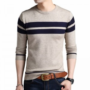 Khaki Cotton Sweater Men Autumn Winter Thick Warm Wool Sweaters Casual Slim Fit O Neck Pullovers Men Cashmere Pull