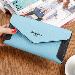 Korean Candy Color Women Wallet With Phone Case Money Bag Card Holder Clutch For Women Thumbnail