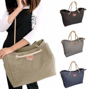 Korean Style Simple Casual Canvas Shoulder Bags Diagonal Ladies New Thumbnail