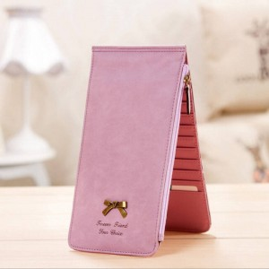 Ladies Wallet Lovely Bow Leather Wallet For Women Zipper Bifold Multi Card Holder Top Quality Thumbnail