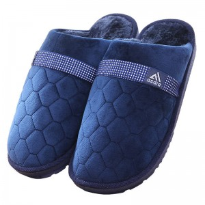 Large Size Cotton Slippers Autumn Winter Indoor Warm Wool For Men Thumbnail