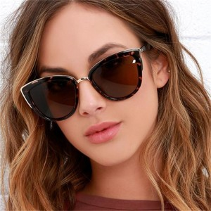 Luxury Cat Eye Sunglasses Woman Australian American Fashion Sun Glasses Female Designer Brown Sunglasses Oculos