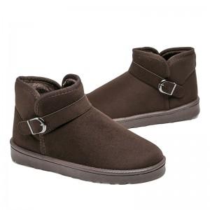 Men Boots Fashion British Style Suede Slip On Ankle Male Shoes Plus Size 40 45 Teenager Non Slip Snow Footwear