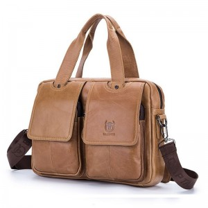Men Briefcase Genuine Leather Messenger Bag Business Laptop Bags Shoulder Handbags Vintage Professional Bags