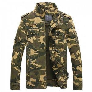 Men Camouflage Jackets New Arrival Spring  Autumn Straight High Quality Military Coats Plus Male Outwear