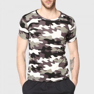 Men Camouflage T Shirt Camo Male Army Military T Shirt Casual Top Tees Men Tshirts Menswear Cool Summer Wear